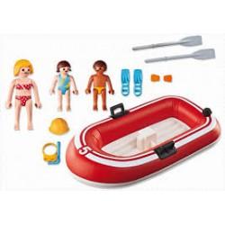 Playmobil Summer Fun Toeristen met rubberboot