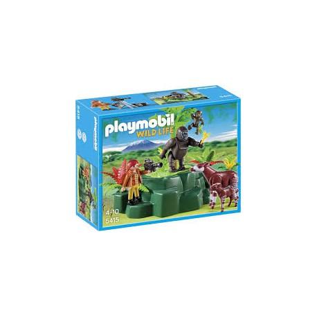 Playmobil Wildlife Gorilla's en Okapi's