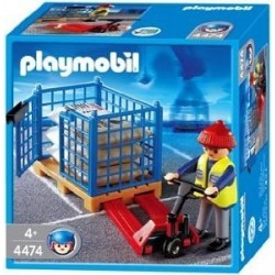 PLAYMOBIL Havenarbeider met palletwagen