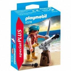 Playmobil Piraat met bronzen scheepskanon