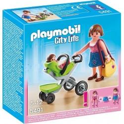 Playmobil Mama met kinderwagen