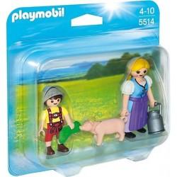 Playmobil Boerin en zoon