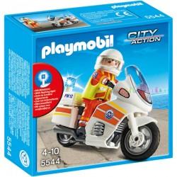 Playmobil Ambulance op motor met zwaailicht