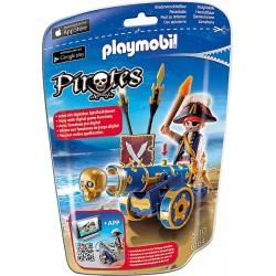 PLAYMOBIL Pirates Officier met blauw kanon