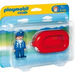 Playmobil 123 Zeeman met rubberboot