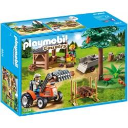 Playmobil Houthakker met tractor