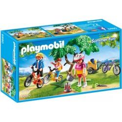 Playmobil Mountainbiketocht met bolderwagen