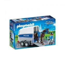 PLAYMOBIL Bereden politie met trailer