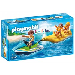 PLAYMOBIL Family Fun Jetski met bananenboot