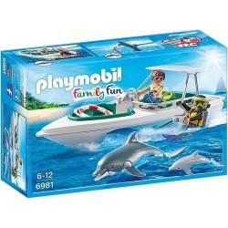 PLAYMOBIL Family Fun Duiktrip met plezierboot