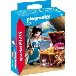 PLAYMOBIL Piratenvrouw met schatkist