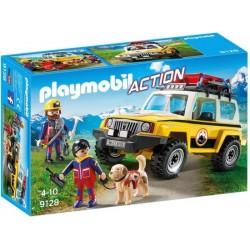 PLAYMOBIL Reddingswerkers met terreinwagen